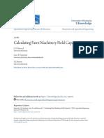 Calculating Farm Machinery Field Capacities