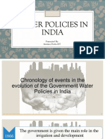 Water policies in India
