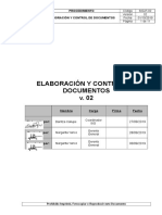 PROCEDIMIENTO DE ELABORACION Y CONTROL DE DOCUMENTOS