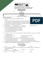 VMC Class 8 Physics Assignment