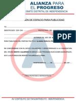 AUTORIZACION PARA PUBLICIDAD - APP