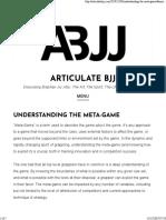 Understanding the Meta-Game – Articulate Bjj