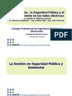 La Ingeniería, la Seguridad Pública y el Medio Ambiente en las redes eléctricas