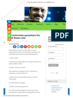 18 Interview questions for SAP Basis role - PUNARVASI.COM