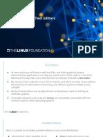 Linux Editores de Texto - Introducción