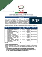 Kldc Vacancies January 2020