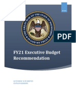 2021 Budget Recommendation