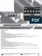 Markbass Compressore owners-manual