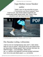 So bleiben weisse Sneaker sauber - Schweizer Illustrierte