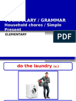 Household chores (Frequency adverbs) (2)