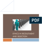 Ethics in Recruitment and Selection
