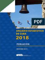 Anuarios estadístico de población cuba 2018