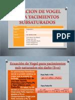ECUACION DE VOGEL PARA YACIMIENTOS SUBSATURADOS