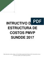 Instructivo Estructura de Costos 2018