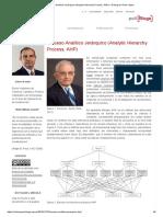 Proceso Analítico Jerárquico (Analytic Hierarchy Process, AHP)