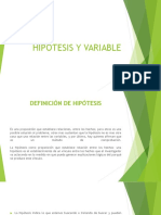 HIPOTESIS Y VARIABLE