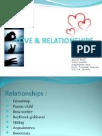 Love & Relationships Ppt