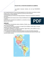 VENTAJAS Y DESVENTAJAS POR LA POSICIÓN GEOGRÁFICA DE AMÉRICA