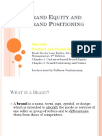 Brand Equity and Brand Positioning