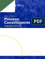 PROGRAMA CURSO - Proceso Contituyente