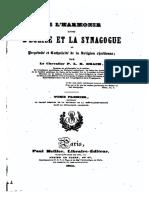 DRACH 1844 Harmonie Entre L-Eglise Et La Synagogue T1