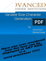 Variable Size Character Generation