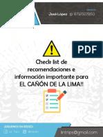 checklist cañón de lima