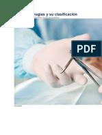 Tipos de cirugías y su clasificación
