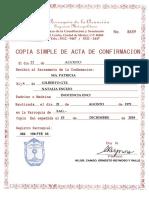 ACTA DE CONFIRMACION