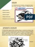 Mecanizado piñones de dientes rectos___Aparato-Divisor