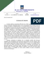 Comunicato_stampa_SINDACO Scavi 2010