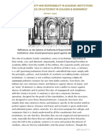 THE SPHERES OF AUTHORITY and RESPONSIBILITY IN ACADEMIC INSTITUTIONS