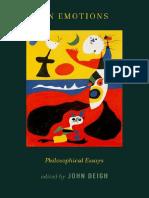 John Deigh - On Emotions. Philosophical Essays