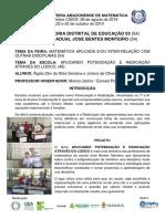 II FEIRA DE MATEMÁTICA