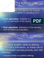 Perioperative Nursing Care