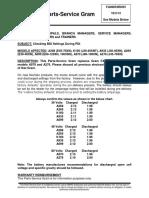 BT - Checking BDI Settings During PDI
