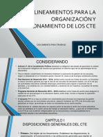 LINEAMIENTOS DE LOS CTE