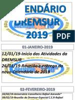 CALENDÁRIO DA DREMSUR 2019-PDF JOAQUIM