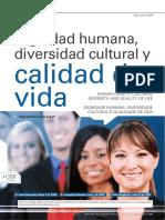 Dignidad humana, diversidad cultural y calidad de vida