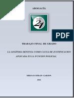 Legitima Defensa -Funcion Policial -GARZON, Hernan -REF