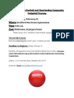 Youth Football Community Dodgeball Tournament- Fundraiser (1)
