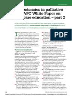 Core Competencies in Palliative Care - An EAPC White Paper on Palliative Care Education – Part 2 FB