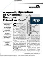 Dynamic Operation of Chemical Reactors Friend or Foe