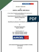 Aircel Final Project Report (Vikash)