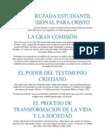 SOBRE CRUZADA ESTUDIANTIL Y PROFESIONAL PARA CRISTO