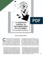 La respueta laboral al neoliberalismo en Colombia. El contexto político