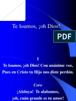 003. Te loamos ¡oh Dios!.ppt