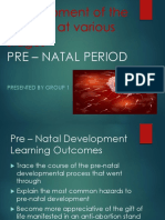 PRE - NATAL PERIOD  by GROUP 1.ppt