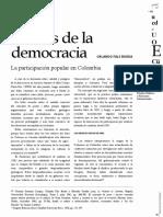 Grietas de la Democracia. La Participación Popular en Colombia