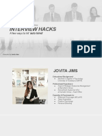 Webinar Interview Hacks by Jovita Jims